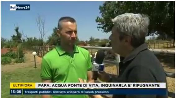 Intervista in diretta su Rai News 24